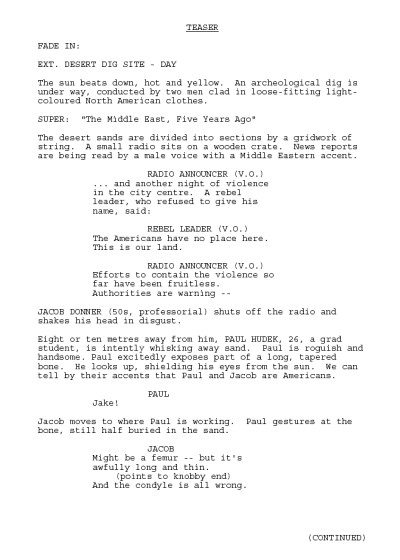 "Classic Screenplay: Watch TV PILOT Reading ""EARTHFALL"" by Robert J. Sawyer (from 2009)"